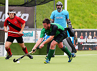 Action from the National Senior Tournament men's hockey match between Canterbury and South Canterbury at National Hockey Stadium in Wellington, New Zealand on Thursday, 21 October 2017. Photo: Dave Lintott / lintottphoto.co.nz