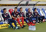 10.09.2017, Wirsol Rhein-Neckar-Arena, Sinsheim, GER, 1.FBL, TSG 1899 Hoffenheim vs FC Bayern M&uuml;nchen<br /> Niklas S&uuml;le (M&uuml;nchen), Franck Rib&eacute;ry (M&uuml;nchen), James Rodriguez (M&uuml;nchen) im Bild<br /> Foto &copy; nordphoto / Bratic