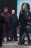 Matt Lucas is spotted as Doctor Who films on Mount Stuart Square in Cardiff Bay, Wales, UK. Sunday 05 February 2017