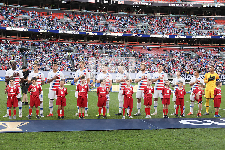 CLEVELAND, OHIO - JUNE 22: United States during a 2019 CONCACAF Gold Cup group D match between the United States and Trinidad & Tobago at FirstEnergy Stadium on June 22, 2019 in Cleveland, Ohio.