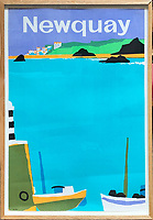 BNPS.co.uk (01202 558833)<br /> Pic: DavidLayFRICS/BNPS<br /> <br /> An coastal Newquay poster<br /> <br />  A wonderful collection of vintage British travel posters celebrating the golden age of the seaside getaway have emerged for sale for £15,000.<br /> <br /> The posters were produced by Great Western Railway and British Railways between the 1930s to the 1960s to encourage Brits to holiday on the Cornish coast.<br /> <br /> One striking Art Deco poster issued by Great Western Railway shows a lady in an orange swimsuit at Newquay with surfers in the background. <br /> <br /> It describes the popular holiday destination as 'Cornwall's first Atlantic resort'.<br /> <br /> The collection of about 30 posters has been put together by a private collector over the past two decades who is now selling them with auction house David Lay FRICS, of Penzance, Cornwall.
