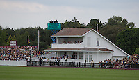 The Royal Stand during the Cartier Queens Cup Final match between King Power Foxes and Dubai Polo Team at the Guards Polo Club, Smith's Lawn, Windsor, England on 14 June 2015. Photo by Andy Rowland.