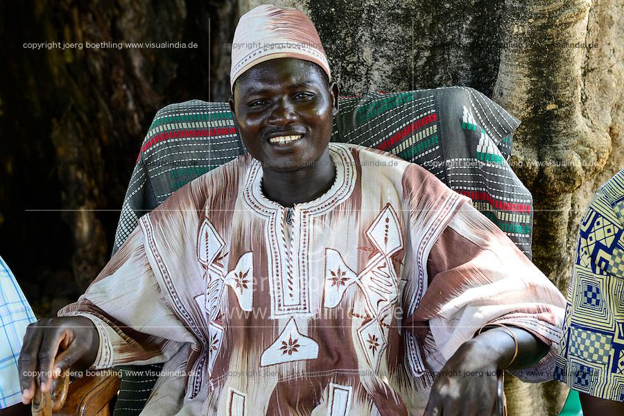 BURKINA FASO, Gaoua , village Obiré, Gan kingdom, 29th  Gan king SA MAJESTÉ ROI GAN / Gan Ethnie, Gan Koenig SA MAJESTÉ ROI GAN