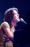 "Dreamworks records recording artist Rufus Wainwright sings at the Bowery Ballroom October 26, 2001 in New York.  He sang selections from his latest cd ""Poses."