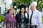 Niamh McNamara, Lixnaw who graduated in Applied Social Studies pictured with her parents Patricia and Mark at the Kerry College of Further Education Graduations at the Brandon Hotel on Thursday.