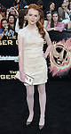 Annie Thurman at the premiere for The Hunger Games held at the Nokia Theatre L.A. Live Los Angeles, CA. March 12, 2012.