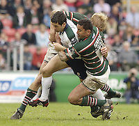 Leicester, ENGLAND.  Barry Everitt, Daryl Gigson, Guinness Premiership Semi-Final. Leicester Tigers vs London Irish, at Welford Road, 05.2006. © Peter Spurrier/Intersport-images.com,  / Mobile +44 [0] 7973 819 551 / email images@intersport-images.com.   [Mandatory Credit, Peter Spurier/ Intersport Images].14.05.2006