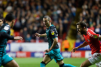 Bersant Celina of Swansea City in action during the Sky Bet Championship match between Charlton Athletic and Swansea City at The Valley, London, England, UK. Wednesday 02 October 2019