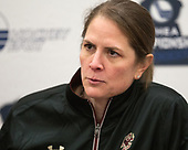 Katie Crowley (BC - Head Coach) -  The Boston College Eagles defeated the University of Vermont Catamounts 4-3 in double overtime in their Hockey East semi-final on Saturday, March 4, 2017, at Walter Brown Arena in Boston, Massachusetts.