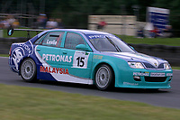 Round 9 of the 2002 British Touring Car Championship. #15 David Leslie (GBR). Petronas Syntium Proton. Proton Impian.