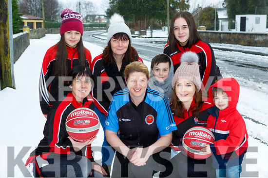 Confused St Marys basketballers who play in the Christmas blitz automatically headed for the Community centre for their Christmas blitz on Friday front row l-r: Liz Galway, Reidin O'Loughlin, Fiona O'Connor, Lorcan O'Connor, back: Erin and Ronan O'Connor Leanne O'Connor