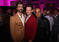 """LOS ANGELES - JUNE 13:  Hamish Linklater, Dan Stevens and Navid Negahban attend the party at Boulevard3 following the Season 3 Los Angeles Premiere Event for FX's """"Legion"""" on June 13, 2019 in Los Angeles, California. (Photo by Frank Micelotta/FX/PictureGroup)"""