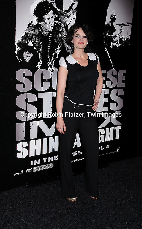"Carla Gugino.posing for photographers at The ""Shine A Light"" movie premiere on March 30, 2008 atThe Ziegfeld Theatre. .Martin Scorsese directed the movie and The Rolling Stones are the stars of the documentary. .Robin Platzer, Twin Images"