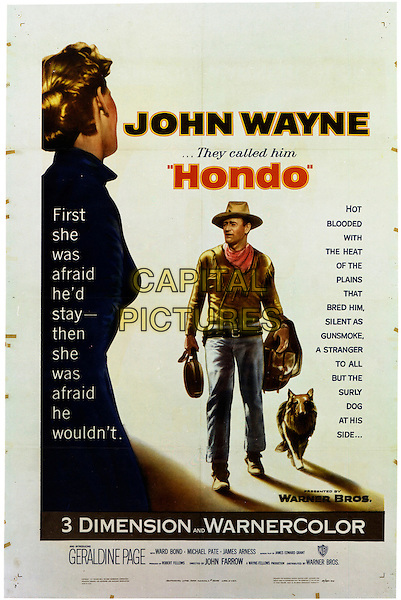 POSTER ART FEATURING JOHN WAYNE.in Hondo (They Called Him Hondo) .**Editorial Use Only**.CAP/PLF.Supplied by Capital Pictures