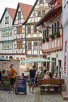 Germany, Thuringia, Schmalkalden: historic old town with half-timbered-houses | Deutschland, Thueringen, Fachwerk- und Hochschulstadt Schmalkalden: historische Altstadt mit Fachwerkhaeusern