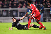 December 5th 2017, Allianze Arena, Munich, Germany. UEFA Champions league football, Bayern Munich versus Paris St Germain;  09 EDINSON CAVANI (psg) is fouled