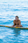 Jen Fratzke, one of the only female surf instructors on Waikiki beach, is also a professional Stand-Up Paddle-board racer in Honolulu, Oahu, Hawaii