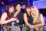 Sarah O'Sullivan (Cork) Grace Madden (Tralee) Aoife O'Shea (Castlegregory) and Michelle Young (Causeway) pictured at the Kube bar, Killarney on New Year's Eve.