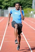 Haringey athlete David Telfer in training..New River Stadium, July 12, 2010.
