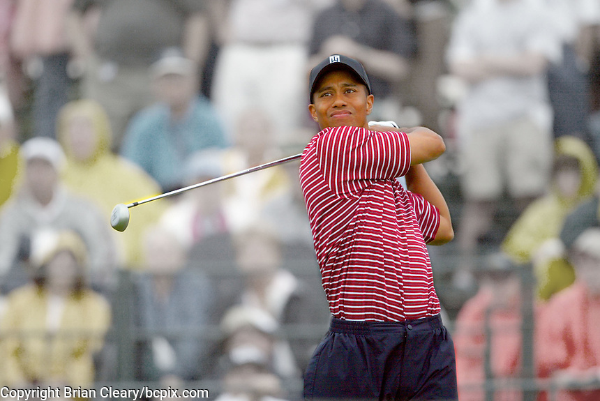 Tiger Woods in action at the Bay Hill Invitational, Orlando , FL, March 23, 2003.  Visual effects created in photoshop. (Photo by Brian Cleary/www.bcpix.com)
