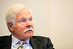Ted Turner during the Ted's Montana Grill quarterly board meeting in downtown Atlanta October 22, 2013.