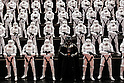 Stormtroopers and Darth Vader action figures on display at the 56th All Japan Model & Hobby Show in Tokyo Big Sight on September 25, 2016. The exhibition introduced hobby goods such as plastic models, action figures, drones, and airsoft guns. (Photo by Rodrigo Reyes Marin/AFLO)