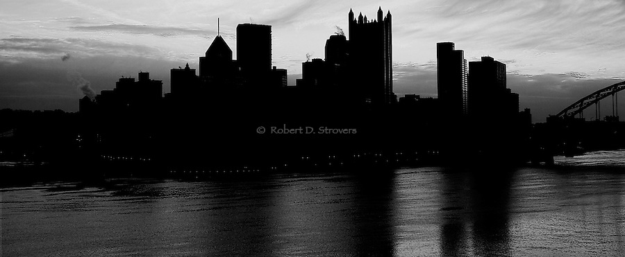 Pittsburgh Skyline Profile - 7x17 Panoramic crop in a 10x20 presentation.