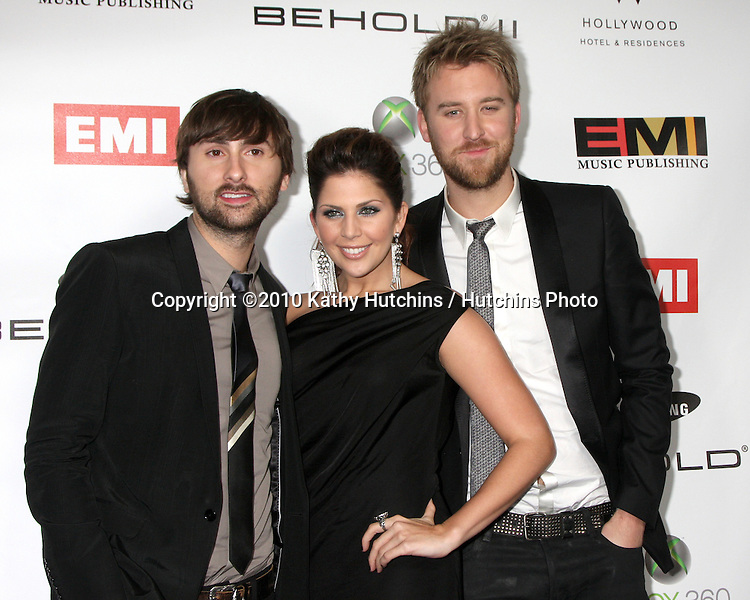 Lady Antebellum.arriving at the EMI Post Grammy Party 2010.W Hotel Hollwood.Los Angeles, CA.January 31, 2010.©2010 Kathy Hutchins / Hutchins Photo....