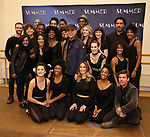 "Tommy Mottola with LaChanze, Storm Lever and Ariana DeBose and the cast attends the Meet & Greet for ""Summer: The Donna Summer Musical"" on March 8, 2018 at the New 42nd Street Studios,  in New York City."