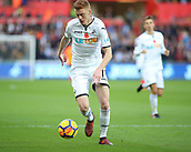 4th November 2017, Liberty Stadium, Swansea, Wales; EPL Premier League football, Swansea City versus Brighton and Hove Albion; Sam Clucas of Swansea City on the ball
