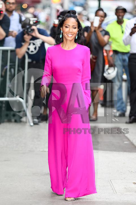 NEW YORK, EUA, 20.07.2017 - JADE-SMITH - A atriz Jada Pinkett Smith é vista chegando a um estudio de televisão em Manhattan na cidade de New York na manhã desta quinta-feira, 20. (Foto: Vanessa Carvalho/Brazil Photo Press)