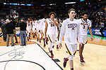 MILWAUKEE, WI - MARCH 16: Minnesota Gophers players walk off the court after their loss to the Middle Tennessee Blue Raiders during the 2017 NCAA Men's Basketball Tournament held at BMO Harris Bradley Center on March 16, 2017 in Milwaukee, Wisconsin. (Photo by Jamie Schwaberow/NCAA Photos via Getty Images)