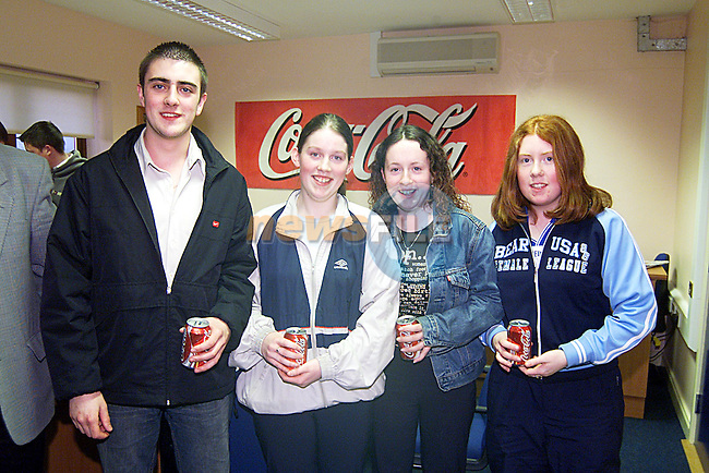 David Goran,Cathryn Lynch,Claire McKenna,and Cathy Reilly from Inver College at The LMFM Schools Quiz,Sponsored by Drogheda Concentrates...Pic Newsfile