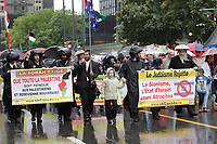 Montreal, CANADA - File Photo - Pro-Palestinian demonstration in downtown Montreal, July 28, 2014.