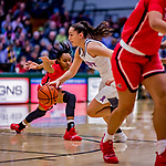 26 January 2019: University of Vermont Catamount Guard Josie Larkins, a Sophomore from Lincroft, NJ, in action against the Stony Brook Seawolves at Patrick Gymnasium in Burlington, Vermont. The Lady Seawolves defeated the Lady Catamounts 67-61 in America East Women's Basketball. Mandatory Credit: Ed Wolfstein Photo *** RAW (NEF) Image File Available ***
