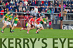 Jonathan Lyne Kerry in action against Mark Collins Cork in the National Football League at Pairc Ui Rinn, Cork on Sunday.