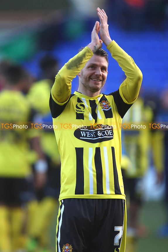 Jamie Cureton of Dagenham and Redbridge applauds the fans at the end of the game - Tranmere Rovers vs Dagenham and Redbridge - SkyBet League Two football at the Prenton Park Stadium on  07/03/15 - MANDATORY CREDIT: Dave Simpson/TGSPHOTO - Self billing applies where appropriate - 0845 094 6026 - contact@tgsphoto.co.uk - NO UNPAID USE