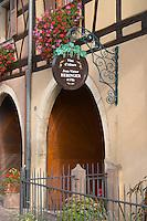 wrought iron sign jean victor hebinger eguisheim alsace france