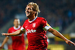 Nederland, Enschede, 20 september 2012.Europa League.Seizoen 2011-2012.FC Twente-Hannover 96.Willem Janssen van FC Twente juicht nadat hij een doelpunt heeft gemaakt, 1-0