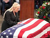 Meghan McCain, daughter of the late United States Senator John McCain (Republican of Arizona), pays respects to her Dad during the Lying in State ceremony honoring  in the US Capitol Rotunda in Washington, DC on Friday, August 31, 2018.<br /> Credit: Ron Sachs / CNP<br /> <br /> (RESTRICTION: NO New York or New Jersey Newspapers or newspapers within a 75 mile radius of New York City)