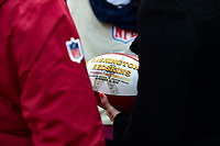 Landover, MD - November 18, 2018: A shot of the commemorative game ball before game between the Houston Texans and the Washington Redskins at FedEx Field in Landover, MD. (Photo by Phillip Peters/Media Images International)