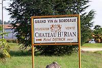 Chateau Haut Rian. Entre deux Mers. Bordeaux, France