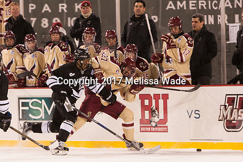 Erik Foley (PC - 12), Graham McPhee (BC - 27) - The Boston College Eagles defeated the Providence College Friars 3-1 (EN) on Sunday, January 8, 2017, at Fenway Park in Boston, Massachusetts.The Boston College Eagles defeated the Providence College Friars 3-1 (EN) on Sunday, January 8, 2017, at Fenway Park.
