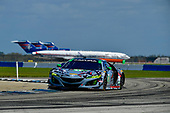 IMSA WeatherTech SportsCar Championship<br /> Sebring February Test<br /> Sebring, Florida, USA<br /> Thursday 22 February 2018<br /> #86 Michael Shank Racing Acura NSX, GTD: Katherine Legge, Alvaro Parente, Trent Hindman<br /> World Copyright: Richard Dole<br /> LAT Images