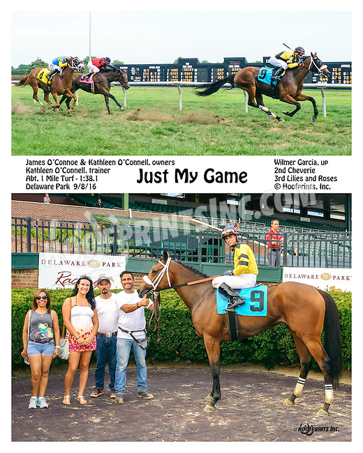 Just My Game winning at Delaware Park on 9/8/16