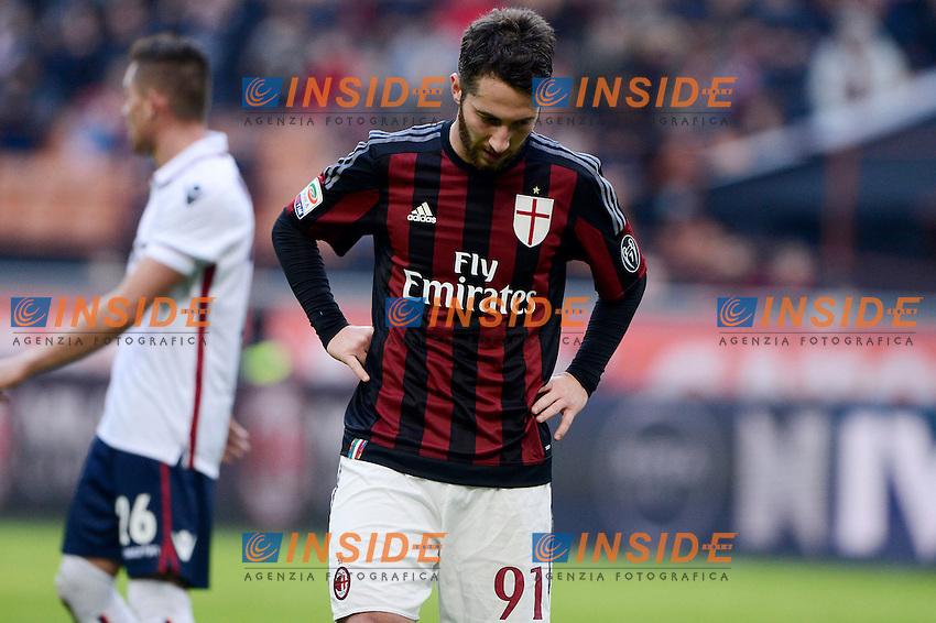 Delusione Andrea Bertolacci Milan<br /> Milano 6-01-2016 Stadio Giuseppe Meazza - Football Calcio Serie A Milan - Bologna. Foto Giuseppe Celeste / Insidefoto
