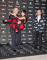 "Alec Baldwin his wife Hilaria Thomas and Santiago Segura attends the ""ICON Magazine AWARDS"" Photocall at Italian Consulate in Madrid, Spain. October 1, 2014. (ALTERPHOTOS/Carlos Dafonte) /nortephoto.com"