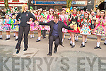 Killarney and Hollywood actor Michael Fassbender, who was Grand Marshall at the St Patricks Day parade in Killarney on Wednesday got involved in the festivities when he steeped it out with Clodagh Irwin Owens of the Irwin School of Dancing...