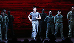 "Alistair Brammer and cast during The Opening Night Curtain Call Bows for the New Broadway Production of ""Miss Saigon"" at the Broadway Theatre on March 23, 2017 in New York City"