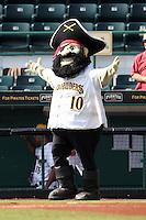 Bradenton Marauders mascot during a game against the Jupiter Hammerheads at McKechnie Field on June 22, 2011 in Bradenton, Florida.  Bradenton defeated Jupiter 5-4.  (Mike Janes/Four Seam Images)